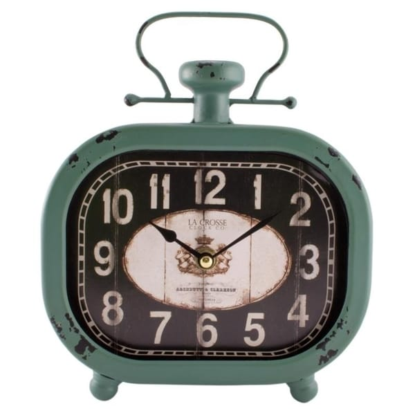 "La Crosse Clock 404-3425 10"" Isla Metal Wall/Table Clock"