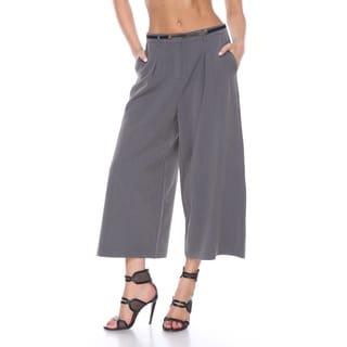 Stanzino Women's Grey Wide-leg Capris