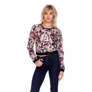 Stanzino Women's Floral Fuzzy Sweater