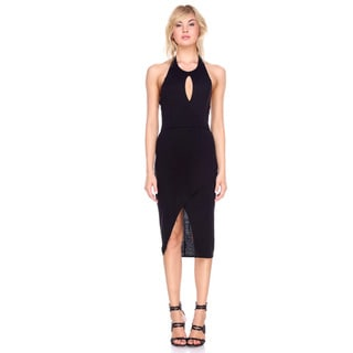 Stanzino Women's Black Rayon/Spandex Sleeveless Pull-over Tank Dress