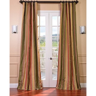 Exclusive Fabrics Signature Stripe Mirage Faux Silk Taffeta Curtain Panel (As Is Item)