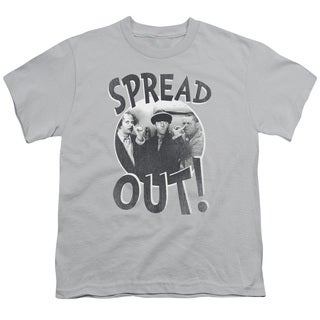 Three Stooges/Spread Out Short Sleeve Youth 18/1 in Silver