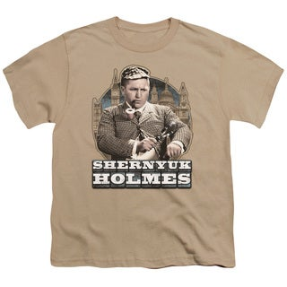 Three Stooges/Shernyuk Holmes Short Sleeve Youth 18/1 in Sand