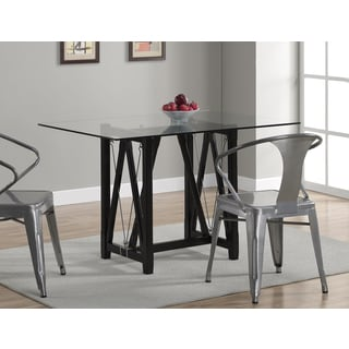 Cable Dark Espresso Tempered Glass Dining Table