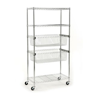Seville Classics Stainless Steel 5-tier Wire Shelving System
