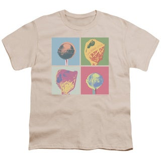 Dum Dums/Pop Art Short Sleeve Youth 18/1 in Cream
