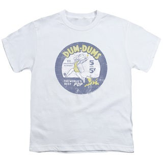 Dum Dums/Pop Parade Short Sleeve Youth 18/1 in White