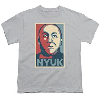 Three Stooges/Nyuk Short Sleeve Youth 18/1 in Silver
