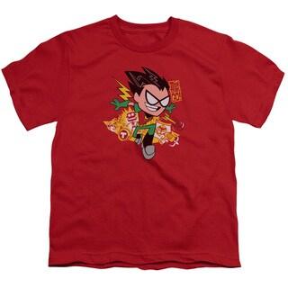 Teen Titans Go/Robin Short Sleeve Youth 18/1 Red