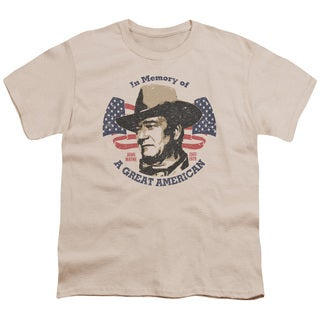 John Wayne/Great American Short Sleeve Youth 18/1 in Cream