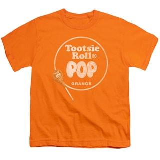 Tootsie Roll/Pop Logo Short Sleeve Youth 18/1 in Orange