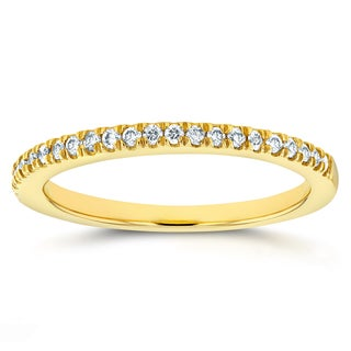 Annello 14k Yellow Gold 1/6ct TDW Diamond Wedding Band (G-H, I1-I2)