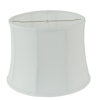 Rembrandt 1640 White Fabric Drum Lamp Shade