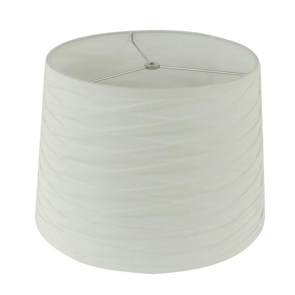 White Pleated Fabric Hardback Empire Lamp Shade
