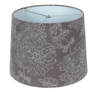 Embroidered Chocolate Linen Hardback Empire Lamp Shade