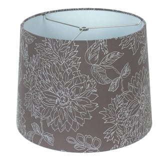 Lamp shade table lamps for less overstock embroidered grey linen hardback empire lamp shade aloadofball Image collections