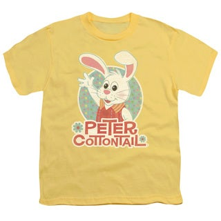 Here Comes Peter Cottontail/Peter Wave Short Sleeve Youth 18/1 in Banana