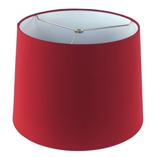 Red Linen Hardback Empire Lamp Shade