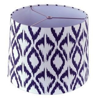 White and Blue Fabric Hardback Empire Lamp Shade