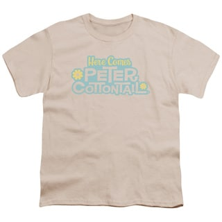 Here Comes Peter Cottontail/Logo Short Sleeve Youth 18/1 in Cream