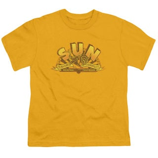 Sun/Rockin Rooster Logo Short Sleeve Youth 18/1 Gold