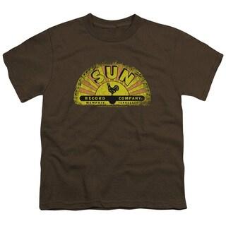 Sun/Vintage Logo Short Sleeve Youth 18/1 Coffee