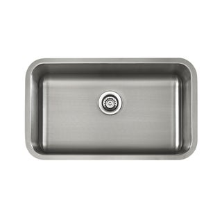 Silver Satin-finished Stainless Stee Single-bowl Undermount ADA Sink