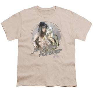 Dark Crystal/Jen & Kira Short Sleeve Youth 18/1 in Cream