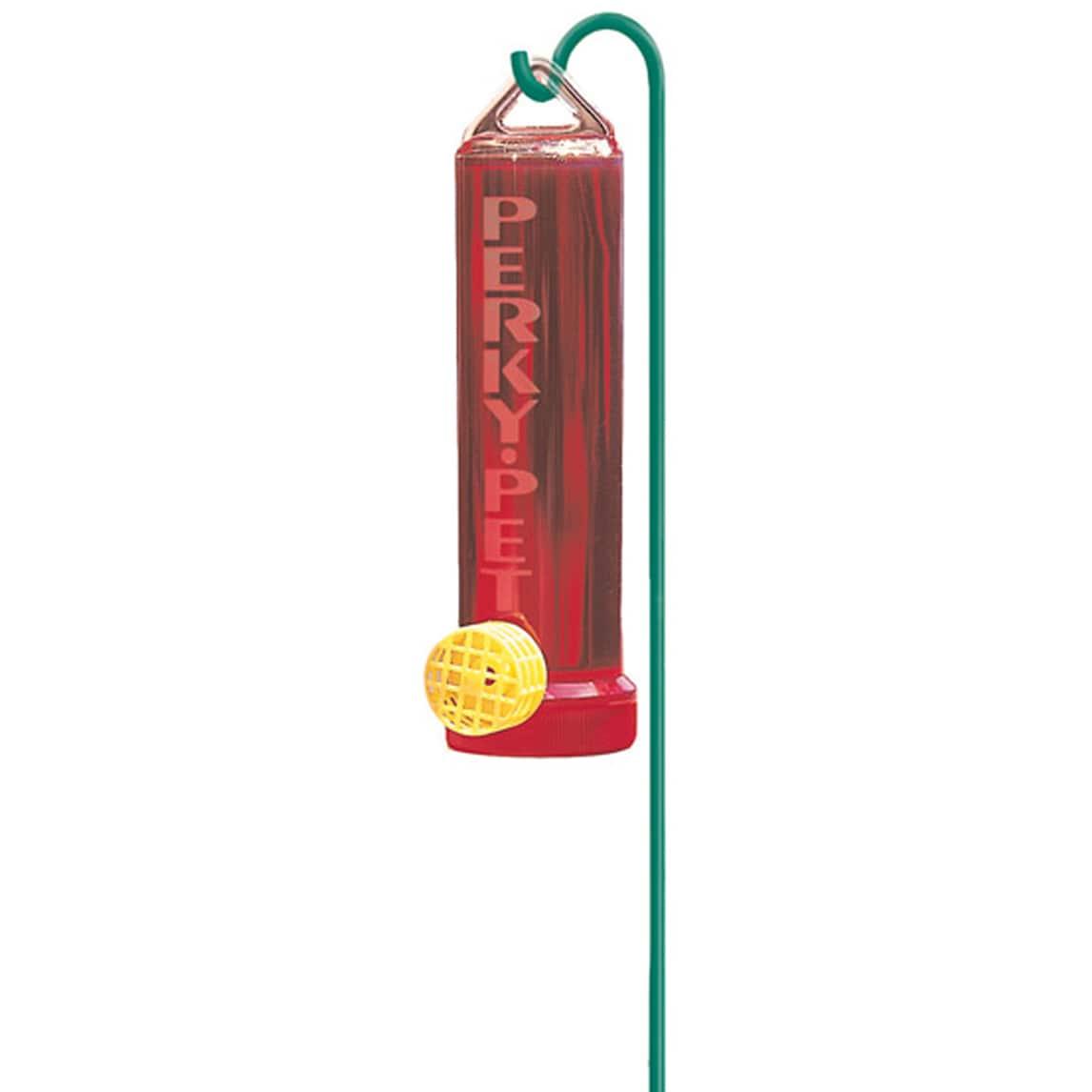 Perky-Pet 3 Oz Red Hummingbird Feeder & Mounting Rod (3oz...