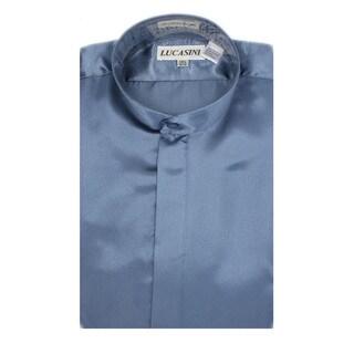 Link to Ferrecci Men's Satine Mandarin Banded-collar Dress Shirt Similar Items in Shirts