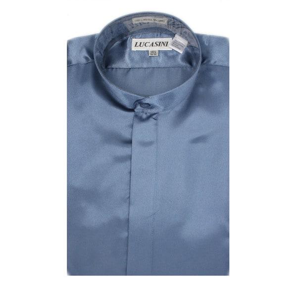Ferrecci Men's Satine Mandarin Banded-collar Dress Shirt