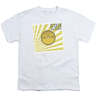 Sun/Fourty Five Short Sleeve Youth 18/1 in White