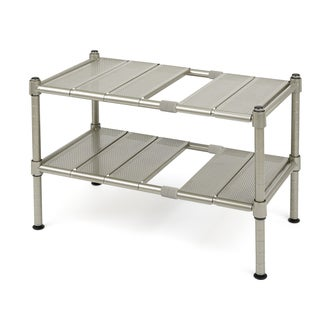 Seville Classics Expandable Sink Shelf With Perforated Panels