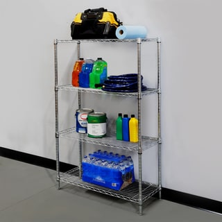 Seville Classics Stainless Steel Wire 4-shelf Shelving System