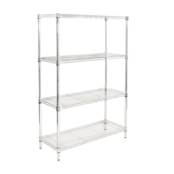 seville classics stainless steel wire 4 shelf shelving. Black Bedroom Furniture Sets. Home Design Ideas