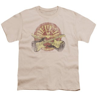 Sun/Crossed Guitars Short Sleeve Youth 18/1 in Cream