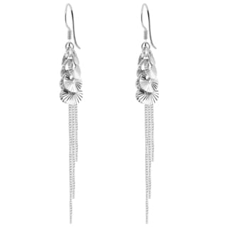 Orchid Jewelry 925 Sterling Silver Chain Earrings