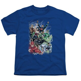 JLA/Justice League #1 Short Sleeve Youth 18/1 in Royal