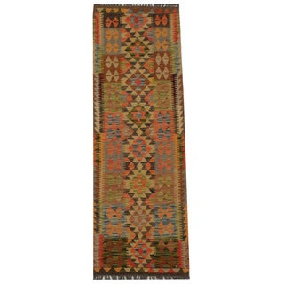 Herat Oriental Afghan Hand-woven Tribal Kilim (2' x 6'4)
