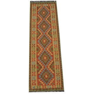 Herat Oriental Afghan Hand-woven Tribal Kilim (2'2 x 6'8)