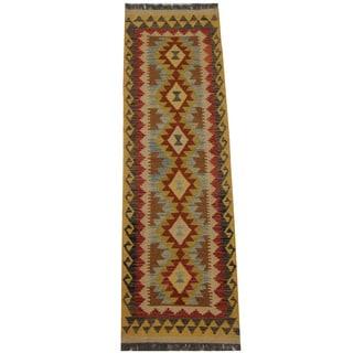 Herat Oriental Afghan Hand-woven Tribal Kilim (2' x 6'6)