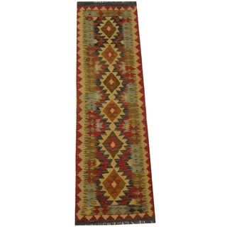 Herat Oriental Afghan Hand-woven Tribal Kilim (1'11 x 6'6)