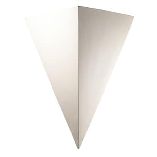 Justice Design Group Ambiance Bisque Outdoor Really Big Triangle Wall Sconce