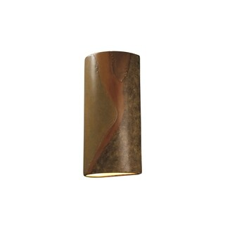 Justice Design Group Ambiance Harvest Yellow Slate Outdoor Really Big Cylinder Wall Sconce