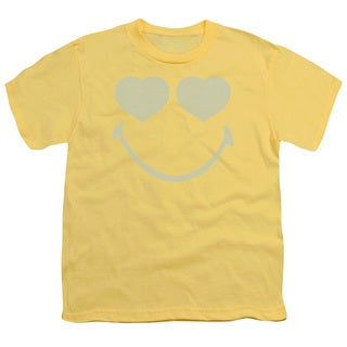 Smiley World/Eyes For You Short Sleeve Youth 18/1 in Banana