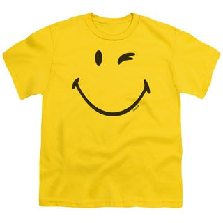 Smiley World/Big Wink Short Sleeve Youth 18/1 Yellow