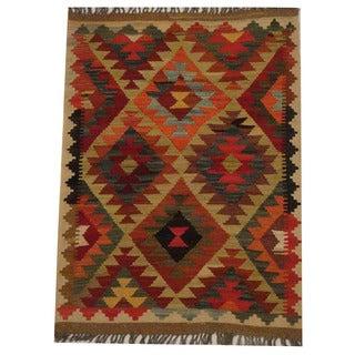 Herat Oriental Afghan Hand-woven Tribal Kilim (2'5 x 3'4)