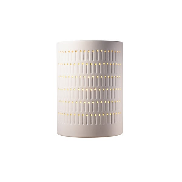 Justice Design Group Ambiance Bisque Outdoor Large Cactus Cylinder Wall Sconce - Free Shipping ...