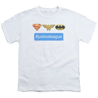 DC/Hashtag JLA Short Sleeve Youth 18/1 in White