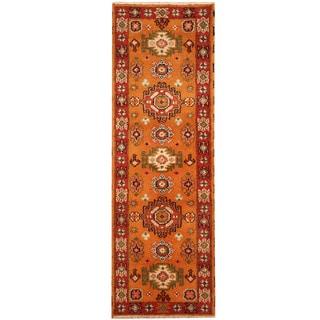 Herat Oriental Indo Hand-knotted Tribal Kazak (2'1 x 6'4)